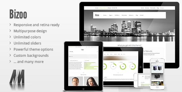 Bizoo – Responsive Business WordPress Theme