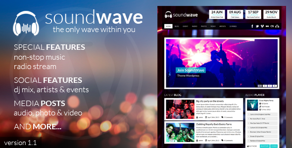 SoundWave – The Music Vibe WordPress Theme
