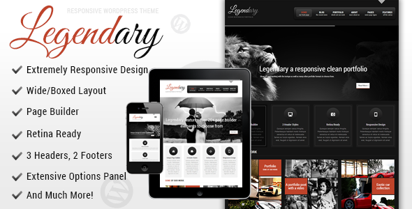 Legendary – Responsive WordPress Theme