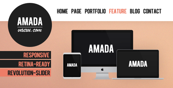 Amada – Flat and Fresh WordPress Theme