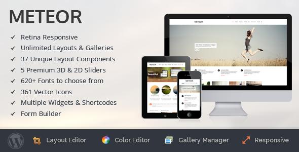 Meteor – Retina Responsive WordPress Theme