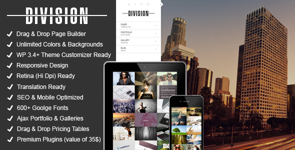 Division – Fullscreen Portfolio Photography Theme