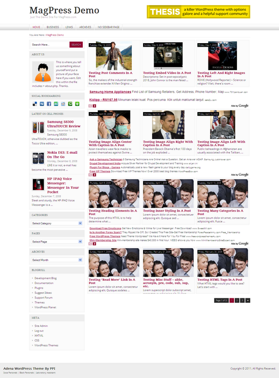 Adena  WordPress Theme Free Download