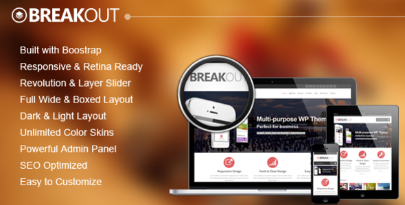 Breakout – Retina Responsive Multipurpose WP Theme