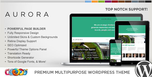 WP Aurora Responsive Multipurpose WordPress Theme