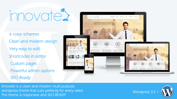 Innovate – Responsive WordPress Theme