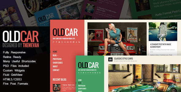 OldCar – Responsive Blog&Portfolio WordPress Theme