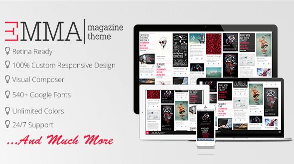 Emma Magazine – Retina Responsive Premium Theme