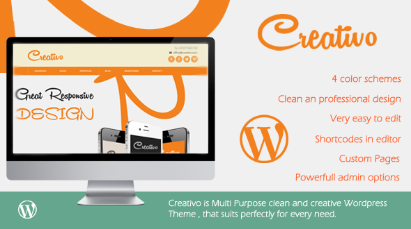 Creativo – Responsive Multipurpose WordPress Theme