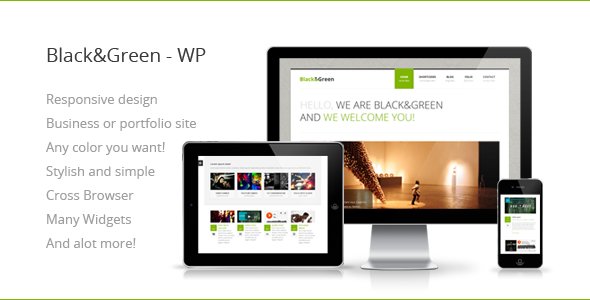 Black&Green – Responsive WordPress Theme