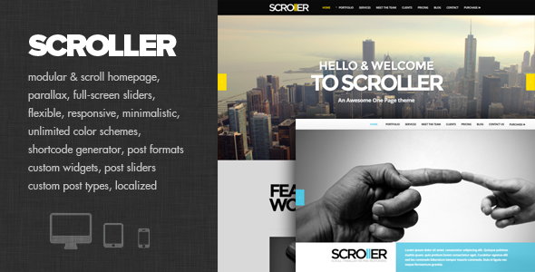 Scroller – Parallax, Scroll & Responsive Theme