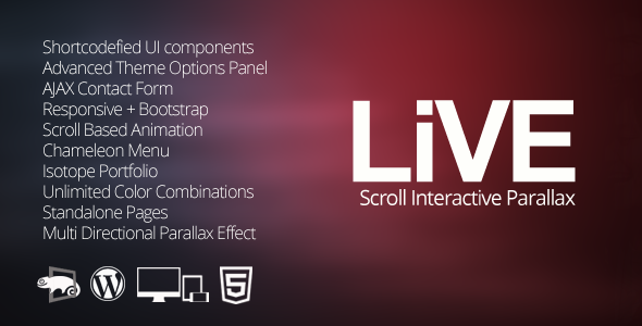LIVE – WordPress Interactive One Page Parallax