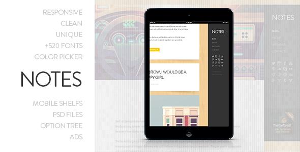 Notes – Personal WordPress Theme