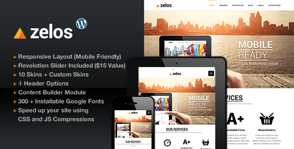 Zelos Responsive Multi-Purpose Business Theme