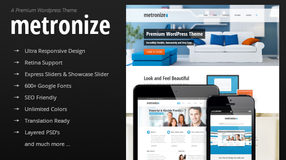 Metronize – Modern and Responsive Multi-Purpose Theme