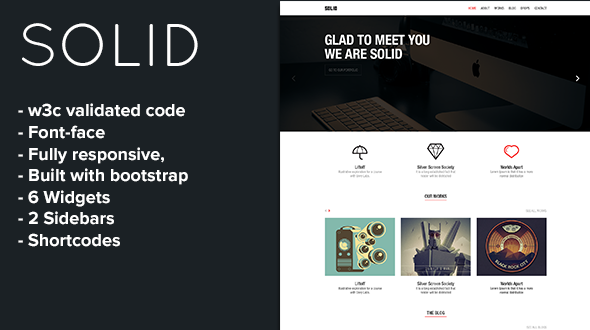Solid – Fully responsive Blog & Portfolio Theme