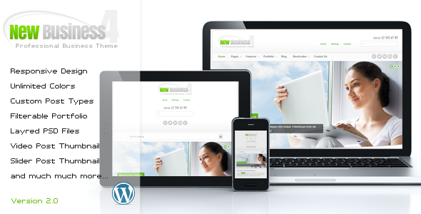 New Business 4 – Responsive WordPress Theme