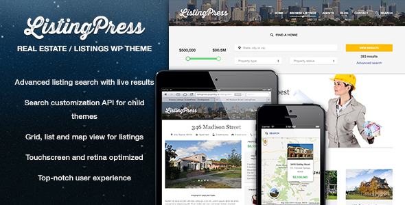ListingPress – Real Estate & Listings WP Theme