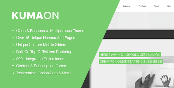 KUMAON, Clean Multipurpose WordPress Theme