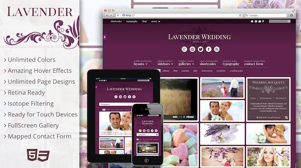 Lavender – Photography/Wedding Retina Theme