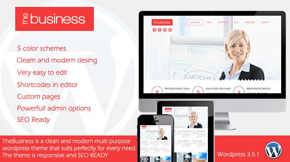 TheBusiness – Responsive Multipurpose WordPress Theme