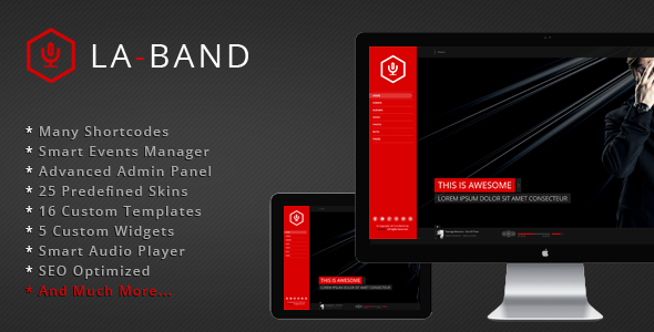 LA-BAND – Music Band Premium WordPress Theme