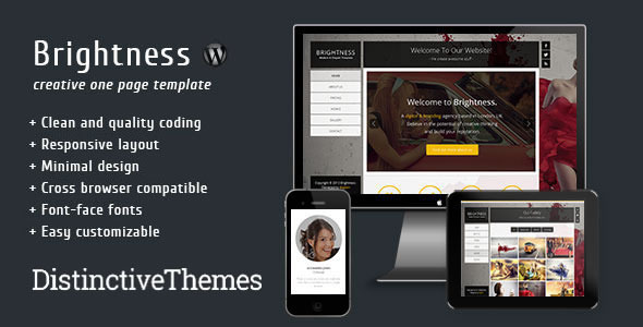 Brightness – Responsive One Page Full Screen Theme