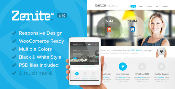 Zenite – Responsive Multi-Purpose WordPress Theme
