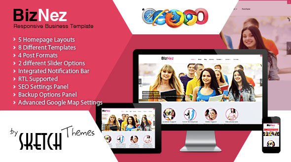 Biznez – Responsive Multipurpose WordPress Theme