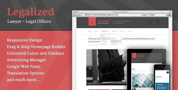 Legalized – Modern Business WordPress Theme