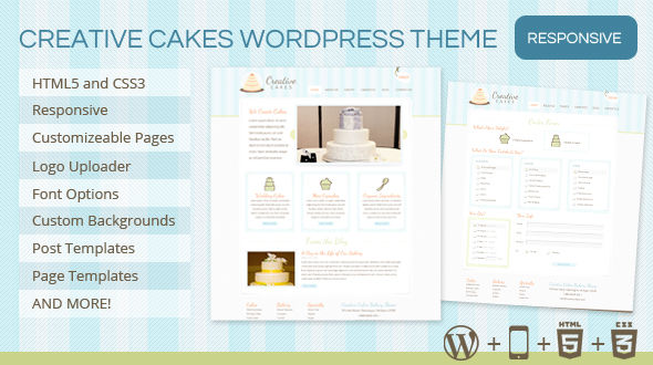 Creative Cakes Bakery Theme for WordPress