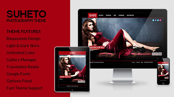 Suheto – Responsive Fullscreen Photography and Portfolio WordPressTheme