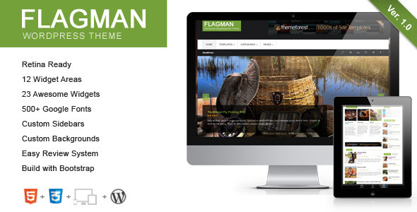 Flagman – Retina Responsive News WordPress Theme