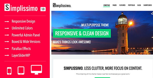 Simplissimo – A Clean Multi-Purpose Theme