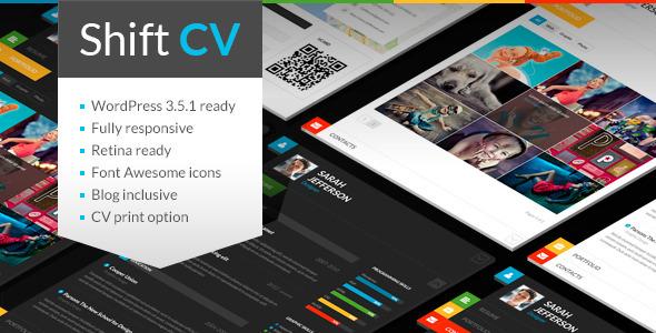 ShiftCV – Blog \ Resume \ Portfolio \ WordPress