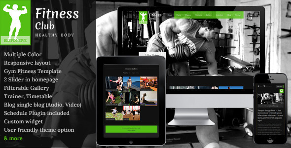 Fitness Club – Responsive WordPress Theme