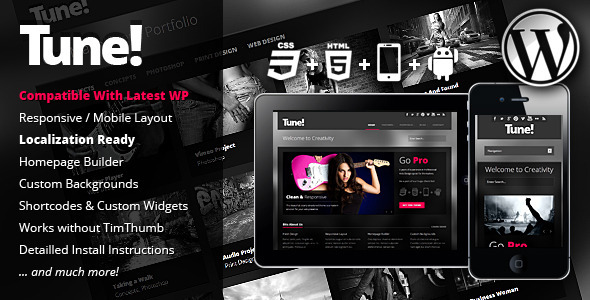 Tune Responsive Creative Business WordPress Theme