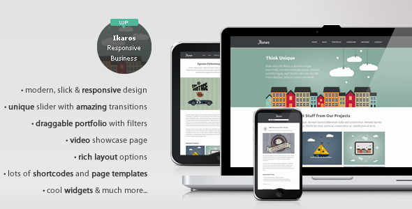 Ikaros – Responsive WordPress Business & Portfolio
