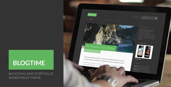 BlogTime – Blogging and Portfolio WordPress Theme