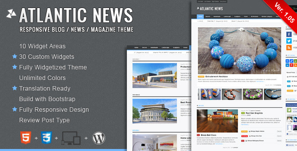 Atlantic News – Responsive WordPress Magazine Blog