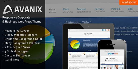 Avanix – Responsive Business WordPress Theme