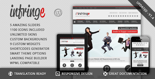 Infringe – Responsive Business & Corporate WP
