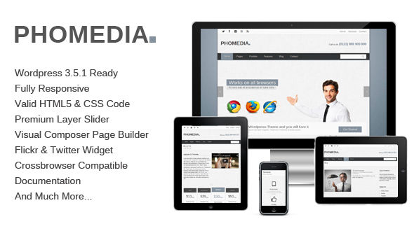 Phomedia – Responsive Multipurpose WordPress Theme
