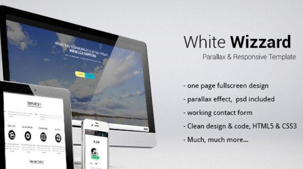 White Wizzard Parallax & Responsive