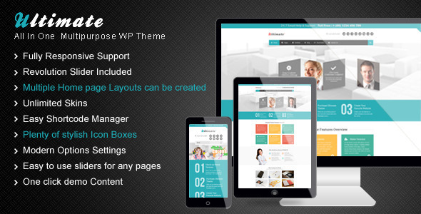 Ultimate – A Unique Multipurpose WordPress Theme
