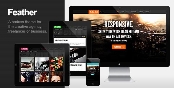 Feather – Responsive Portfolio WordPress Theme