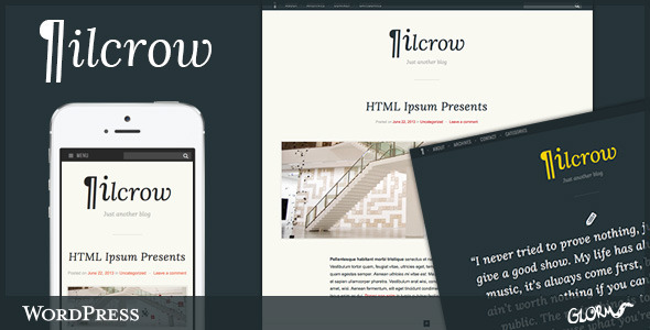 Pilcrow – AJAX powered WordPress Blog Theme