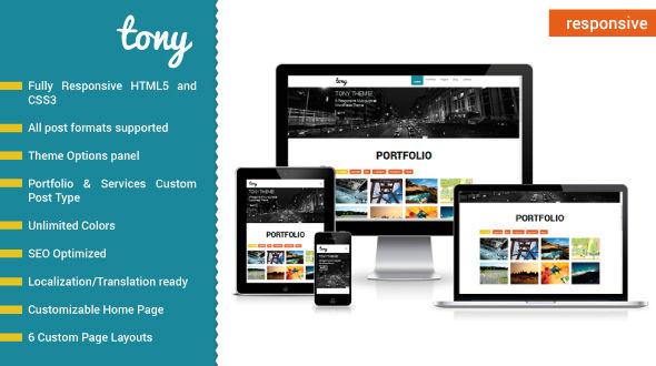 Tony – Responsive Multipurpose WordPress Theme