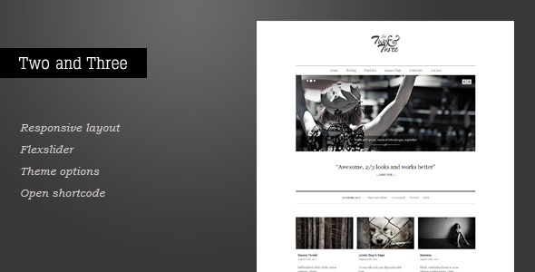 Two and Three – Portfolio WordPress Theme