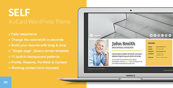 Self – A Responsive vCard WordPress Theme